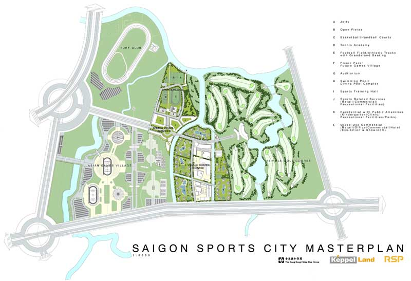 master plan saigon sports city