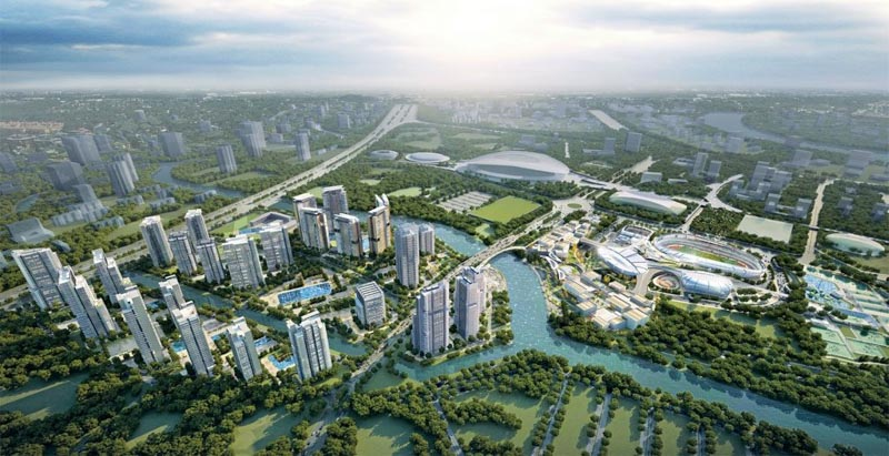 toan canh du an saigon sports city keppel land quan 2