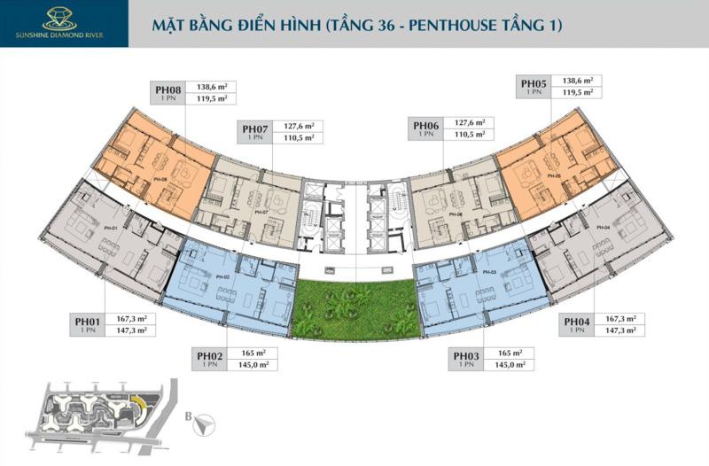 mat bang tang 36 sunshine diamond river