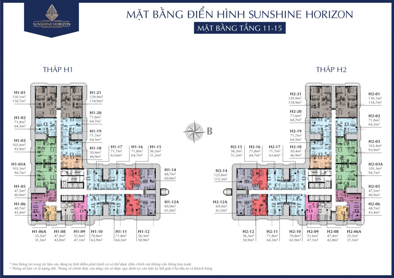 mat bang tang 11 - 15 sunshine horizon quan 4