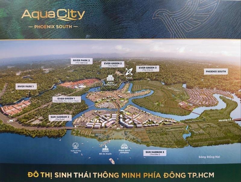 vi tri phan khu dao phuong hoang aqua city phoenix south