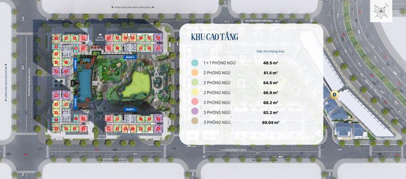 mat bang khu cao tang Victoria Village
