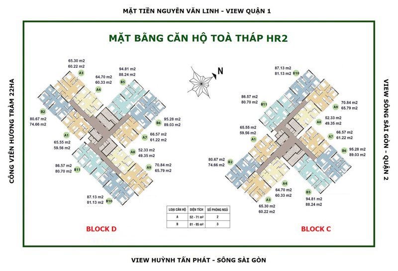toa thap hr2 Eco Green SaiGon