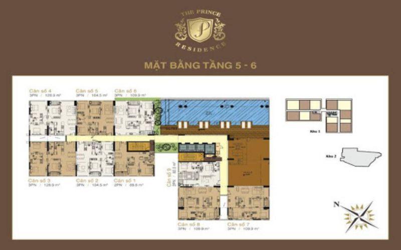 mat bang tang 5 the prince residence