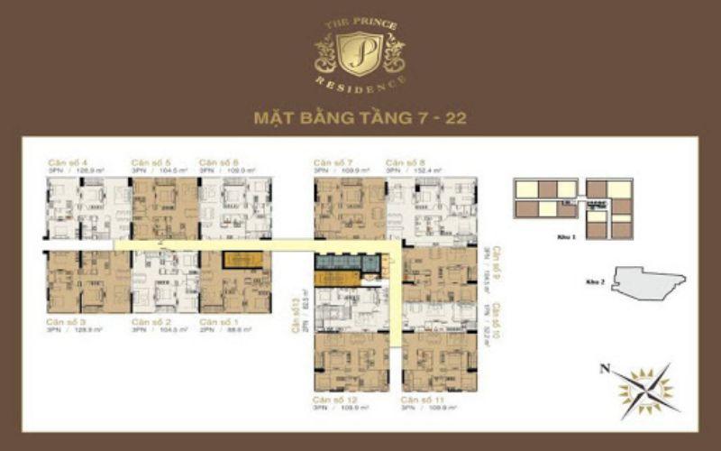 mat bang tong the tang 7 the prince residence