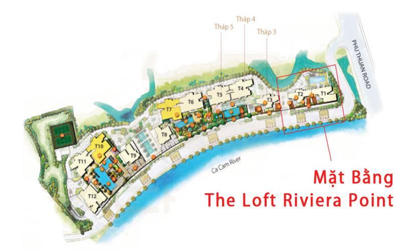 mat bang chung cu the loft riviera point