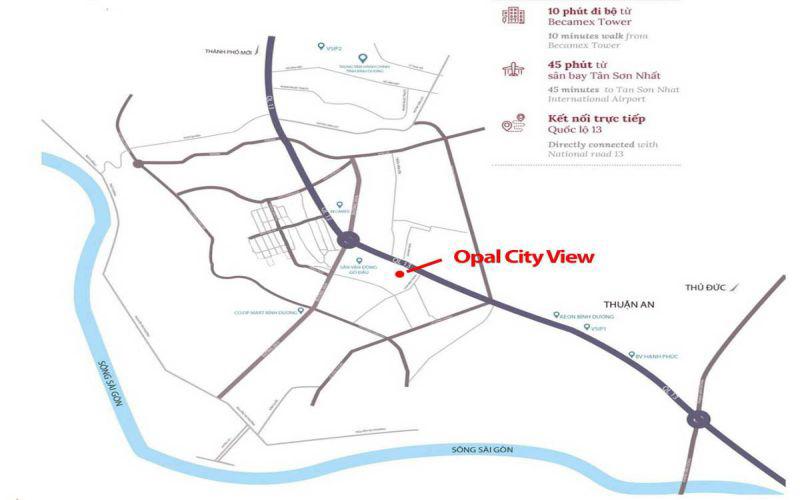 vi tri du an opal cityview dat xanh binh duong