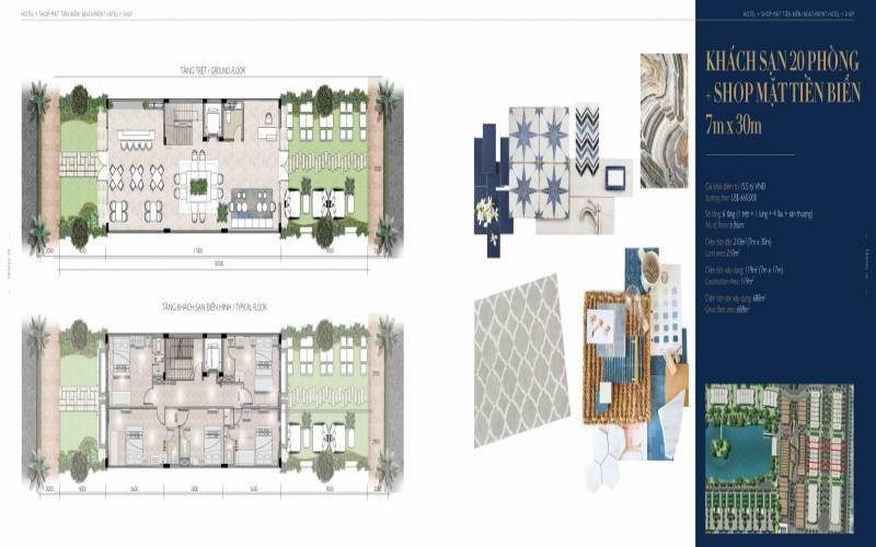 mat bang hotel villas shop 7x30 the hamptons ho tram