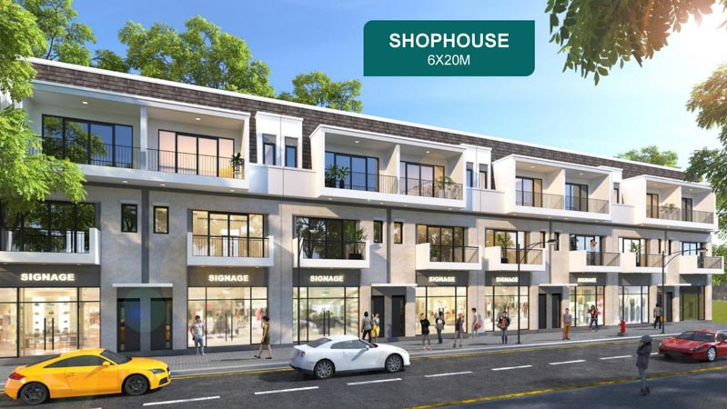 thiet ke shophouse aqua city elite