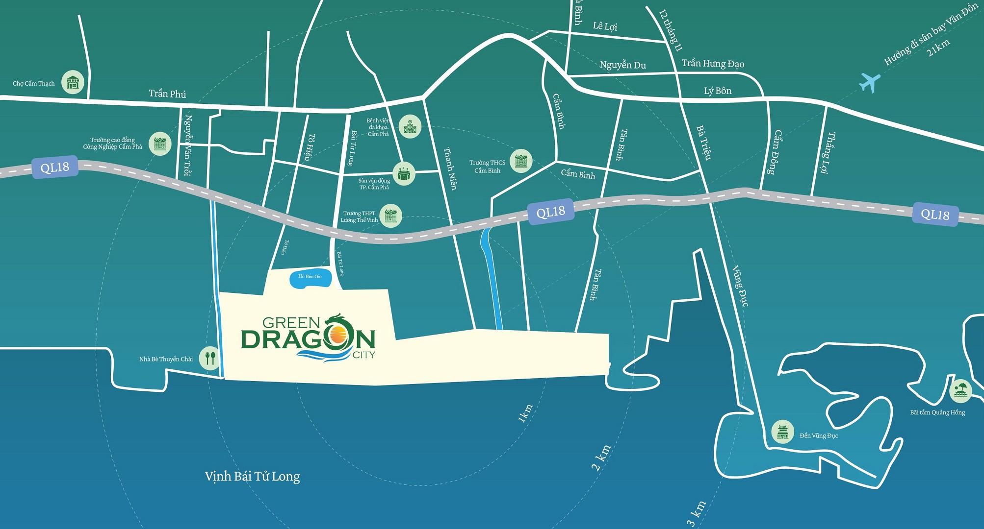 vi tri co nen mua green dragon city quang ninh